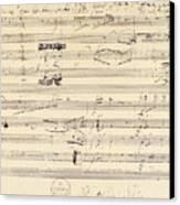 Beethoven Manuscript, 1826 Canvas Print by Granger