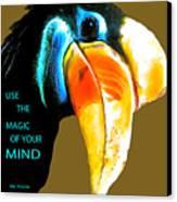 Believe Toucan Canvas Print by Debra     Vatalaro