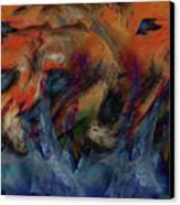 Beneath The Waves Canvas Print by Linda Sannuti