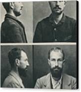 Bertillon System Photographs Taken Canvas Print