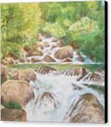 Bishop Creek South Fork Canvas Print by Charles Hetenyi