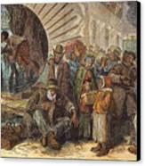 Black Exodus, 1880 Canvas Print