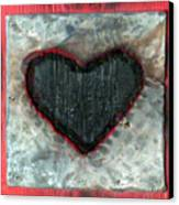 Black Heart Canvas Print by Jane Clatworthy