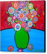 Blooms 3 Canvas Print by Pristine Cartera Turkus