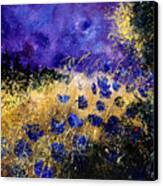 Blue Cornflowers Canvas Print