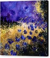 Blue Cornflowers Canvas Print by Pol Ledent