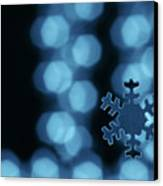 Blue Snowflake Canvas Print by Jouko Mikkola