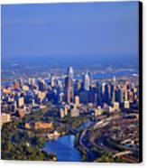 1 Boathouse Row Philadelphia Pa Skyline Aerial Photograph Canvas Print