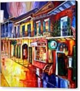 Bourbon Street Red Canvas Print by Diane Millsap