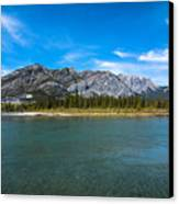 Bow Valley Campground Canvas Print by Adnan Bhatti