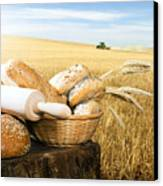 Bread And Wheat Cereal Crops Canvas Print by Deyan Georgiev