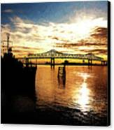 Bright Time On The River Canvas Print by Scott Pellegrin