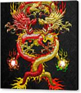 Brotherhood Of The Snake - The Red And The Yellow Dragons Canvas Print
