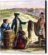 Canada: Fur Traders, 1777 Canvas Print by Granger