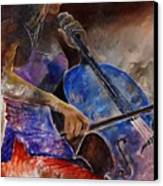 Cello Player  Canvas Print