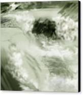 Cherry Creek White Water Canvas Print by Anne Norskog