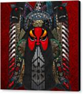 Chinese Masks - Large Masks Series - The Red Face Canvas Print by Serge Averbukh