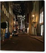 Christmas Eve 2009 On Maiden Lane In San Francisco Canvas Print by Wingsdomain Art and Photography