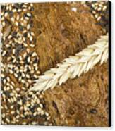 Close Up Bread And Wheat Cereal Crops Canvas Print by Deyan Georgiev