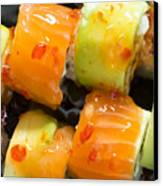Close Up Sushi In Plate Canvas Print by Deyan Georgiev