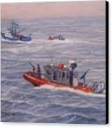 Coast Guard In Pursuit Canvas Print