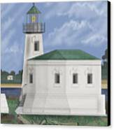 Coquille River Lighthouse At Bandon Oregon Canvas Print