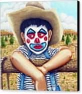 County Fair Clown Canvas Print
