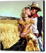Cowboy's Romance Canvas Print by Mike Massengale
