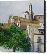 D Alt Vila Ibiza Old Town Canvas Print