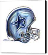 Dallas Cowboys Helmet Canvas Print by James Sayer