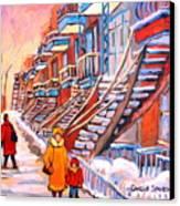 Debullion Street Winter Walk Canvas Print