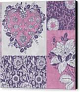 Deco Heart Pink Canvas Print