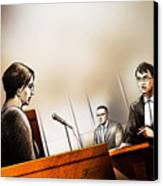 Defence Attorney Dirk Derstine At The Tori Stafford Murder Trial In London Canvas Print