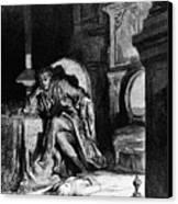 DorÉ: The Raven, 1882 Canvas Print by Granger