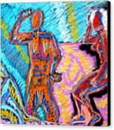 Electricity - 3 Figures Canvas Print