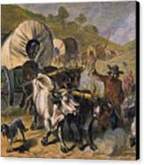 Emigrants To West, 19th C Canvas Print