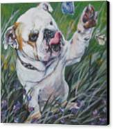 English Bulldog Canvas Print by Lee Ann Shepard