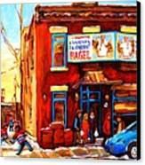 Fairmount Bagel In Winter Canvas Print