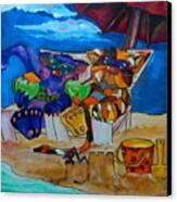 Fat Cats Catchin Rays Canvas Print by Patti Schermerhorn