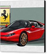 Ferrari Sergio With 3d Badge  Canvas Print