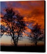 Fire In The Sky Canvas Print by Peter Piatt