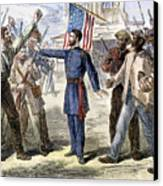 Freedmens Bureau, 1868 Canvas Print