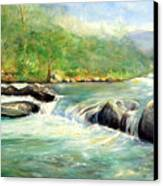 Gatlinburg River Canvas Print by Max Mckenzie