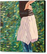 Girl On The Bridge Canvas Print