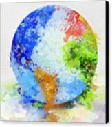 Globe Painting Canvas Print by Setsiri Silapasuwanchai