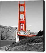 Golden Gate Canvas Print by Greg Fortier