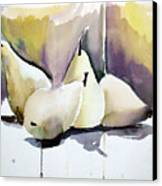 Graceful Pears Canvas Print by Mindy Newman