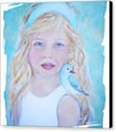 Gwyneth Little Earth Angel Of Happiness Canvas Print