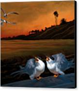 Here Comes Dinner Canvas Print by Thanh Thuy Nguyen