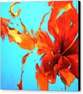 Hibiskoblue Canvas Print